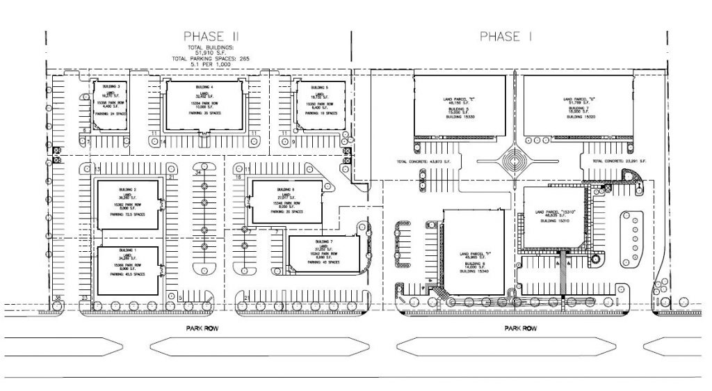 Park-Row-Center-Phase-I-Site-Plan
